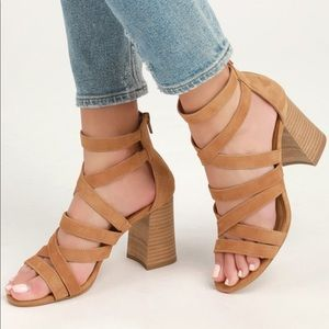 Steve Madden July Tan Suede Sandals 8.5 NWT